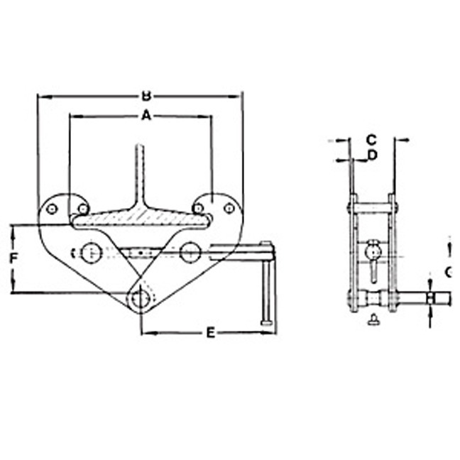 Jet Beam Clamp With Locking Screw - Parts