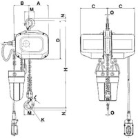 1 ton electric chain hoist 2 ton electric hoist wiring
