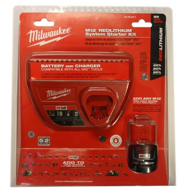 Milwaukee 48-59-2411 M12 Starter Kit