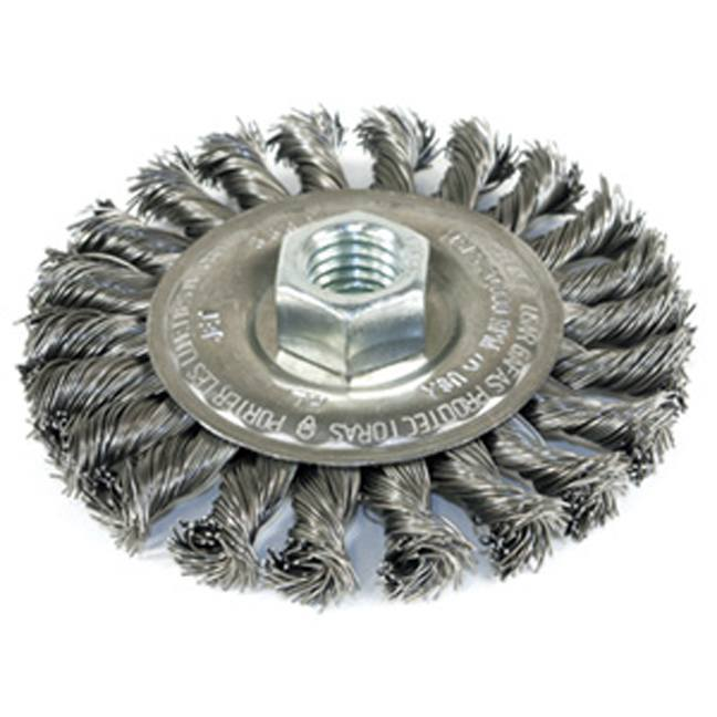 Jet 553327 4 x 1/2 x 5/8-11NC Knot Wire Wheel Threaded