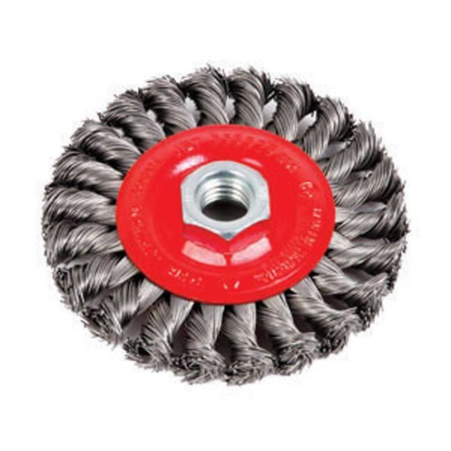 Jet 553328 4 x 1/2 x 5/8-11NC Full Cable Twist Knot Wheel