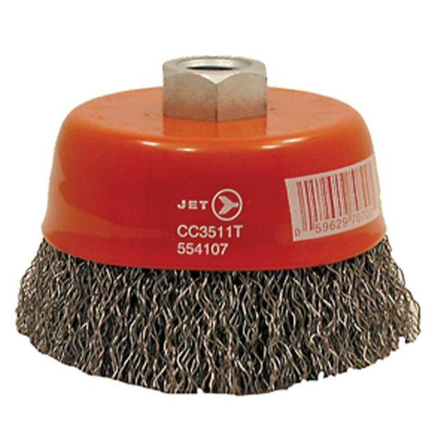 Jet 554107 3-1/2 x 5/8-11NC Premium Crimped Cup Brush