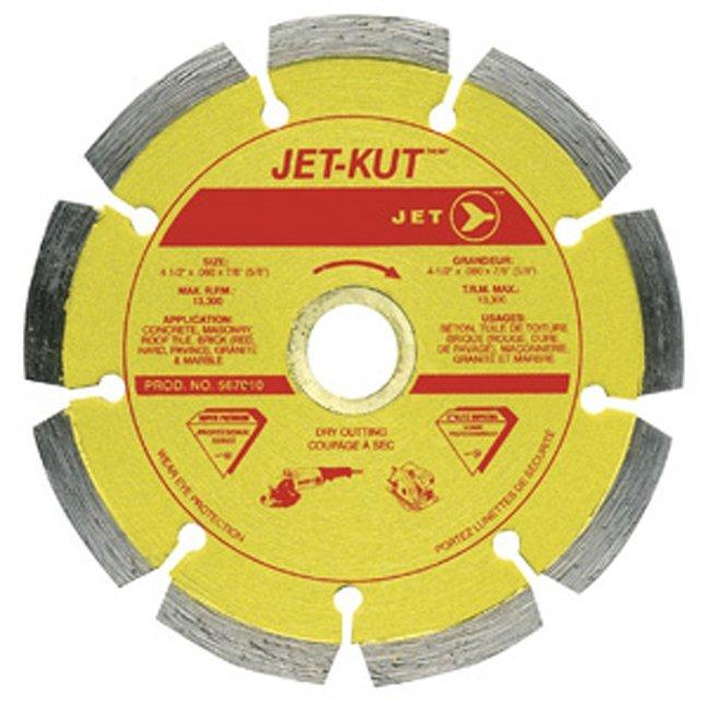 Jet 567010 4-1/2 x .080 x 7/8 Segmented Diamond Blade