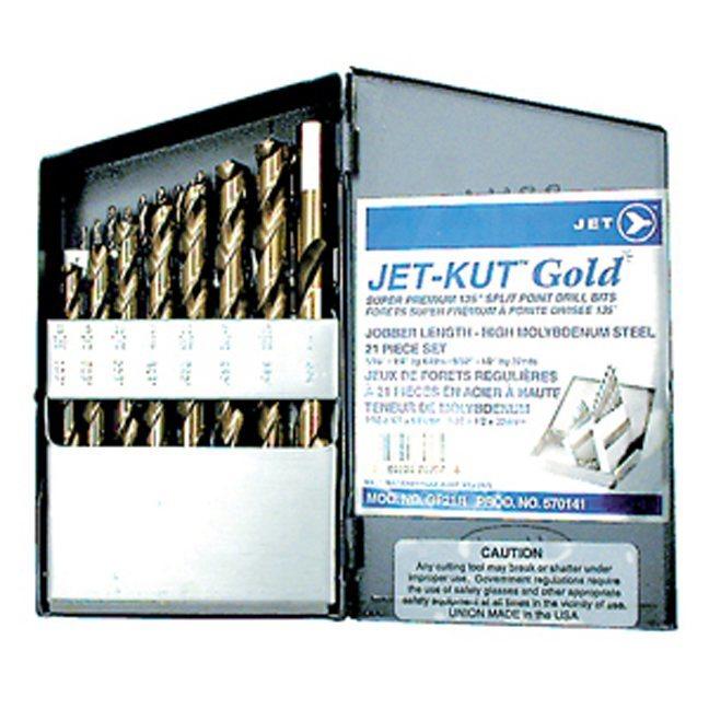 Jet 570141 21 PC JET-KUT GOLD Super Premium Drill Bit Set