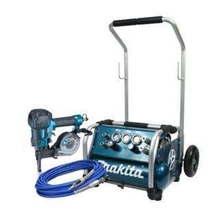 Makita AC310HX4 High Pressure Coil Concrete Nailer Combo Kit