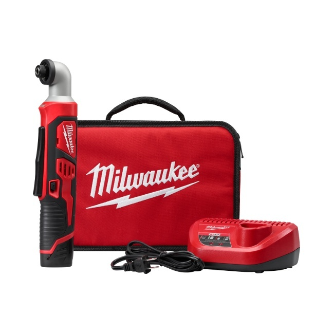"Milwaukee 2467-21 M12 1/4"" Hex Right Angle Impact Driver Kit"