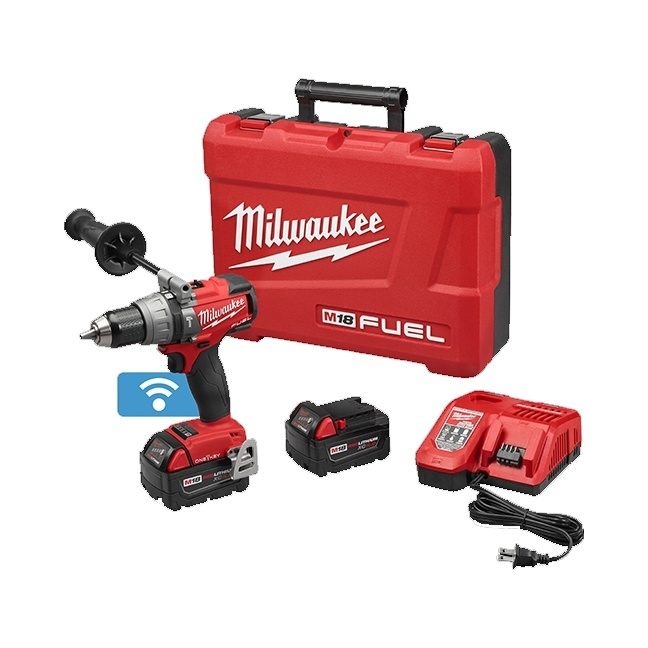 "Milwaukee 2706-22 M18 FUEL 1/2"" Hammer Drill with ONE-KEY Kit"