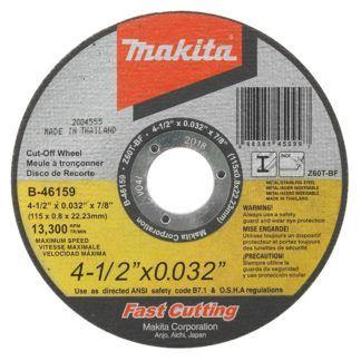"Makita A-96431-25 4-1/2"" Ultra-Thin Kerf Cut Off Wheels - 25 Pack"