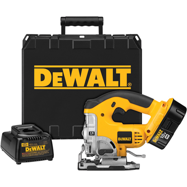 DeWalt DC330K 18V Jig Saw Kit with Keyless Blade Change
