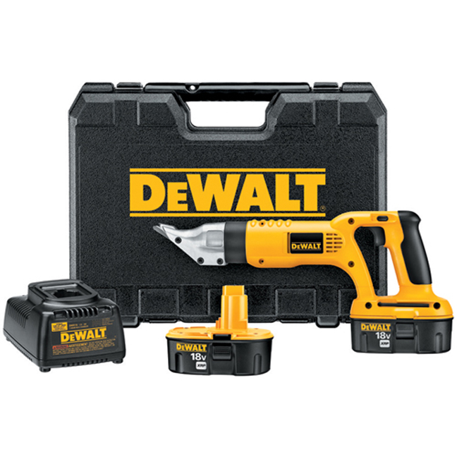 DeWalt DC490KA 18V 18 Gauge Swivel Head and Shear Kit