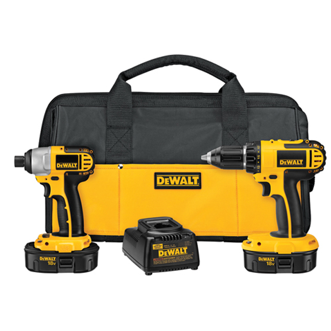 DeWalt DC720IA 18V Compact Drill Impact Driver Combo Kit