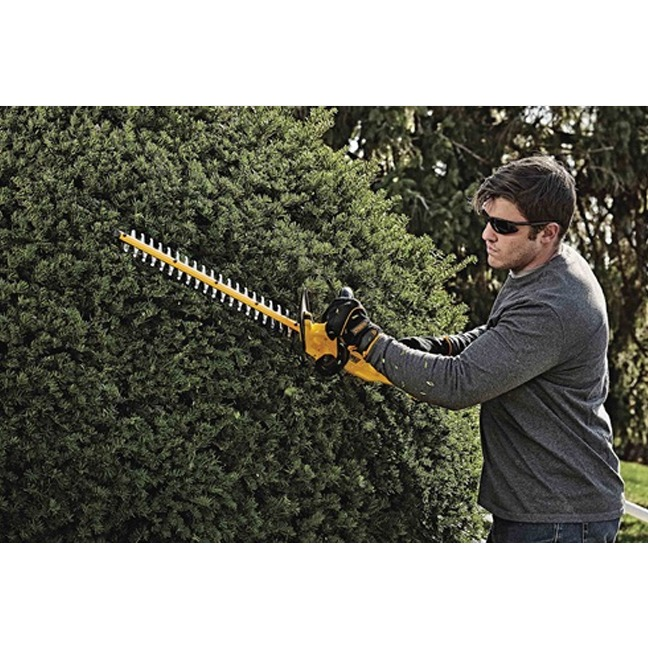 DeWalt DCHT820P1 20V MAX Hedge Trimmer Kit In Use 2