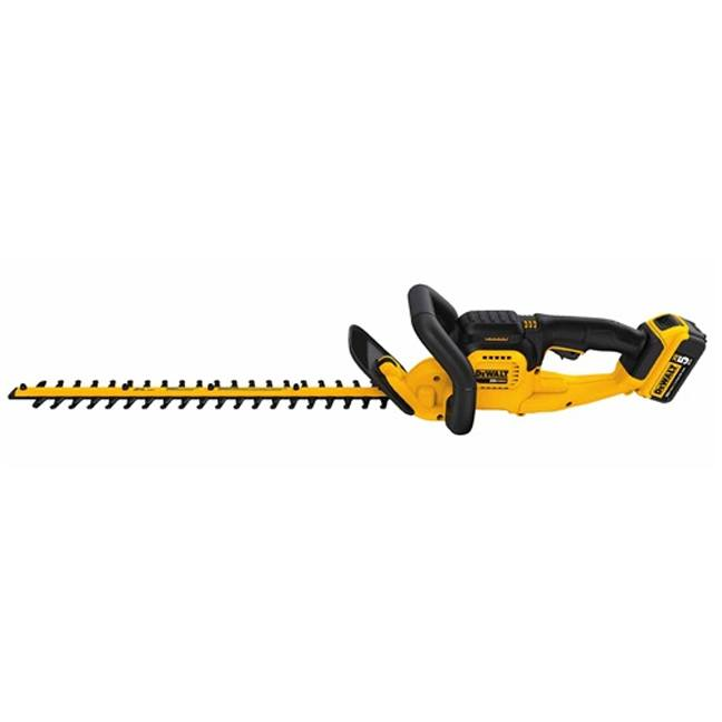 DeWalt DCHT820P1 20V MAX Hedge Trimmer Kit Side View