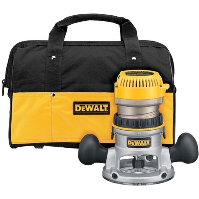 DeWalt DW618K 2-1/4 HP EVS Fixed Base Router Kit
