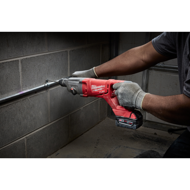 Milwaukee 2713-20 M18 FUEL D-Handle Rotary Hammer In Use 2