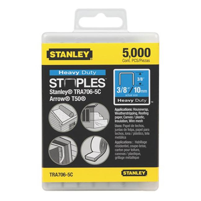 """Stanley TR706-5C 5,000 pc 3/8"""" Heavy Duty Staples"""