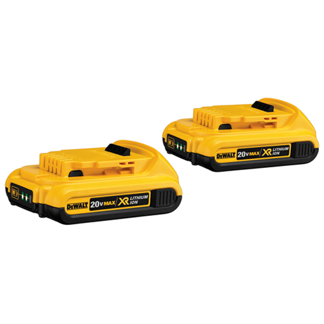 DeWalt DCB203-2 20V MAX Compact XR Battery 2-Pack