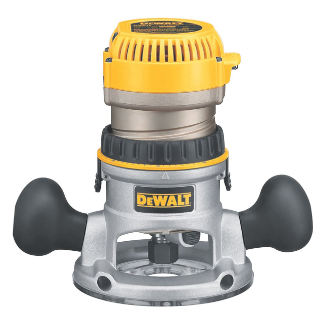 DeWalt DW618 2-1/4 HP EVS Fixed Base Router with Soft Start