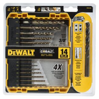 DeWalt DWA1240 14PC Pilot Point Cobalt Drill Bit Set