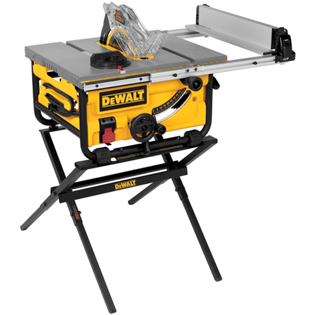 "DeWalt DWE7480X 10"" Compact Job Site Table Saw with Stand"