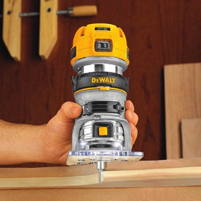 DeWalt DWP611 Max Torque Variable Speed Compact Router with LED's 3