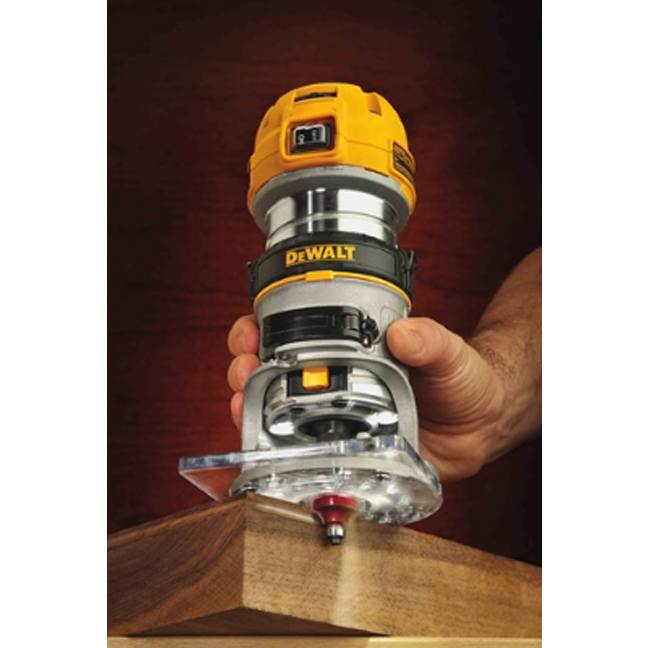 DeWalt DWP611 Max Torque Variable Speed Compact Router with LED's 6
