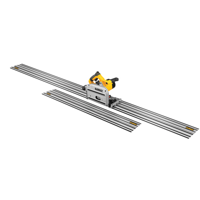 """DeWalt DWS520CK 6-1/2"""" TrackSaw Kit with 59"""" & 102"""" Track"""
