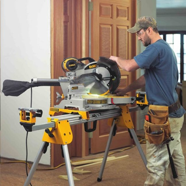 DeWalt DWS780LST Mitre Saw with Long Stand 5