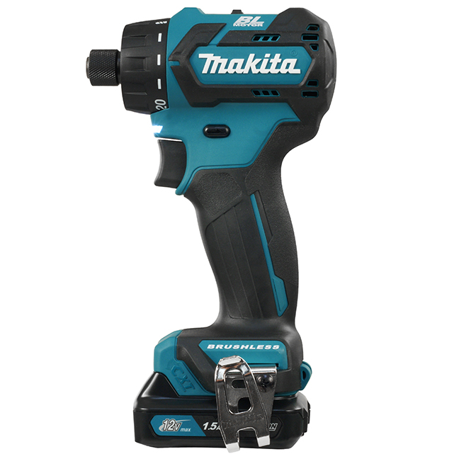 "Makita DF032DSYE 1/4"" Hex 12 Drill Driver with Brushless Motor"