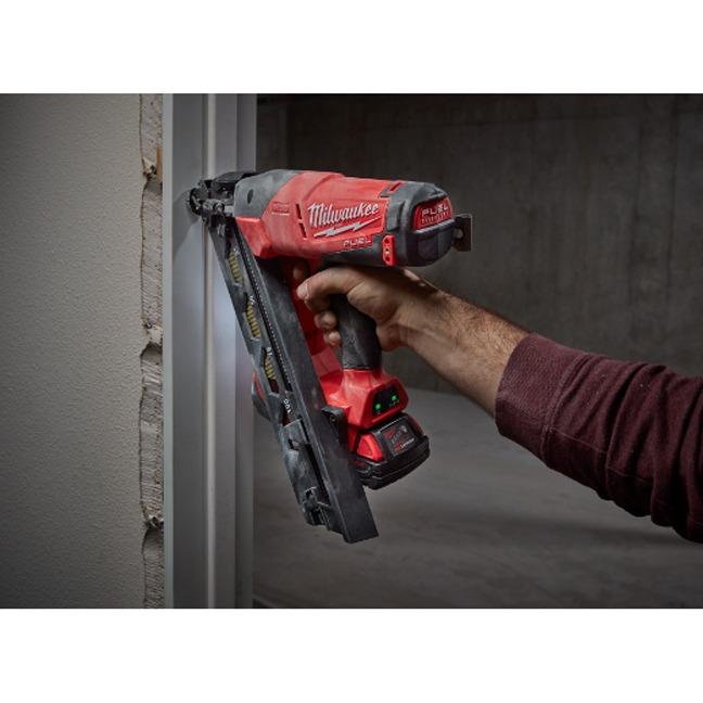 Milwaukee 2743-20 M18 FUEL 15ga Finish Nailer In Use 1