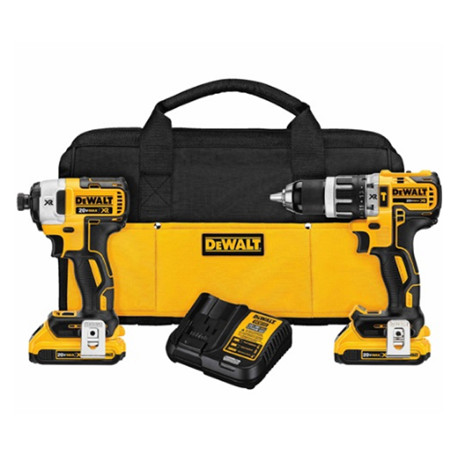 Dewalt dck287d2 20v max brushless 2 tool combo kit bc for Dewalt 20v brushless motor