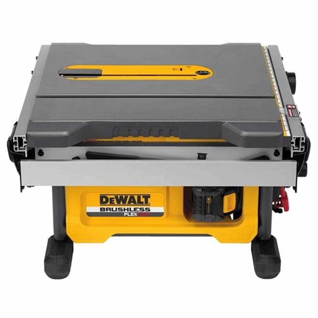 DeWalt DCS7485T1 FlexVolt 60V Max Table Saw Kit Folded