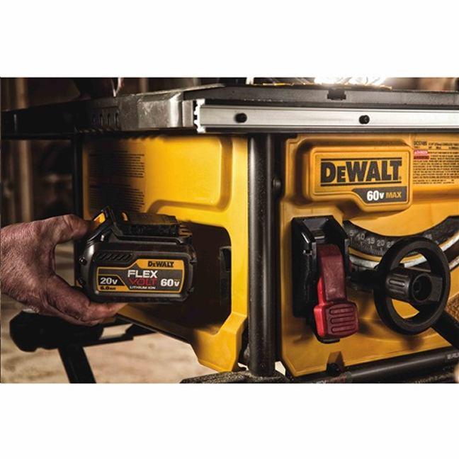 DeWalt DCS7485T1 FlexVolt 60V Max Table Saw Kit In Use 2