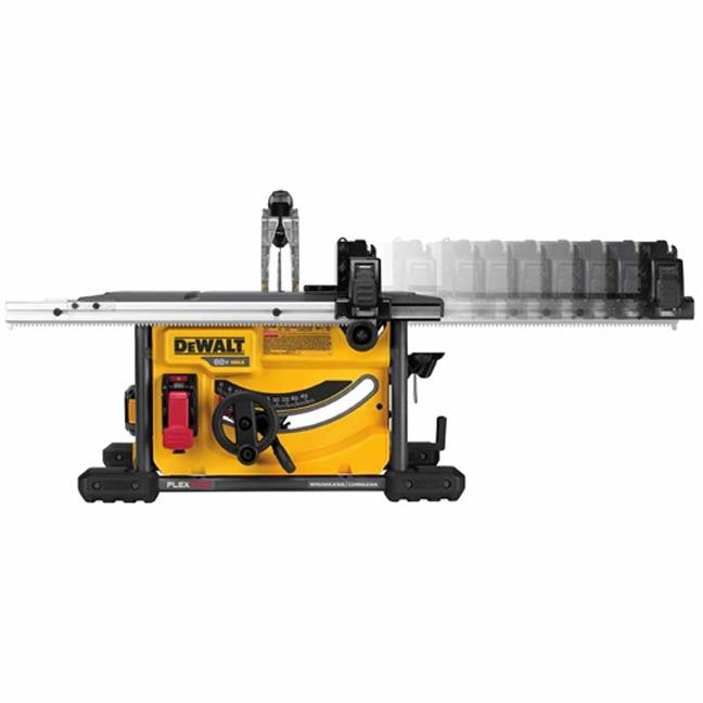 DeWalt DCS7485T1 FlexVolt 60V Max Table Saw Kit In Use 3