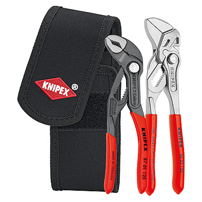 Knipex 002072V01 Mini Pliers Set in Belt Tool Pouch