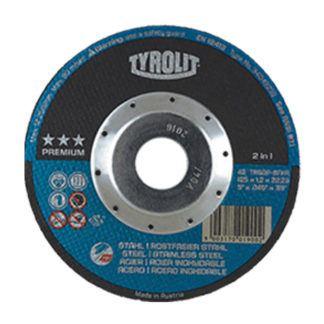Tyrolit 34042238 4.5X.045X7/8 Depressed Center Cut-Off Wheel ST/SS