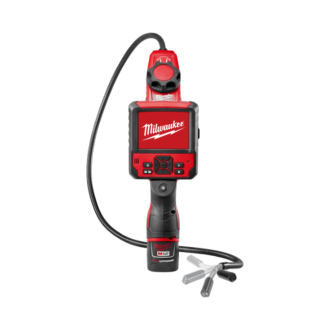 Milwaukee 2317-21 M12 M-SPECTOR FLEX 3FT Inspection Camera Cable Kit Front