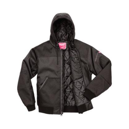 Milwaukee 252B Hooded Jacket - Black Laying down