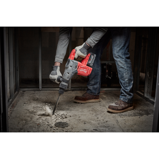 Milwaukee 2717-20 M18 FUEL SDS Max Hammer Drill In Use