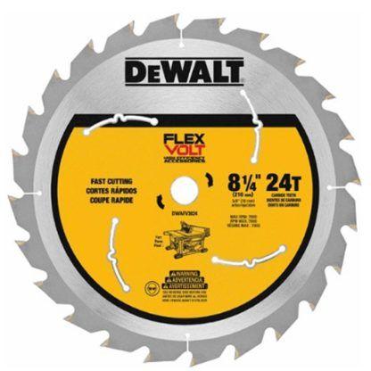 DeWalt FlexVolt Table Saw Blade