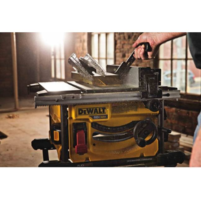 DeWalt FlexVolt Table Saw Blade In Use
