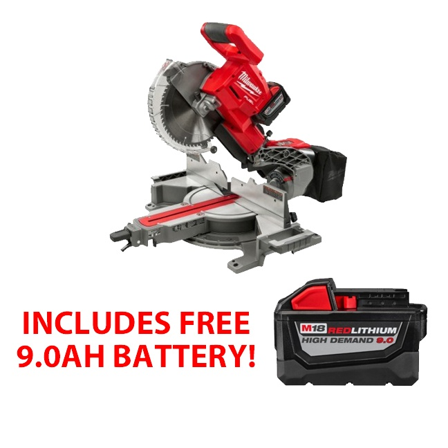 Milwaukee 2734-21HD M18 FUEL Dual Bevel Sliding Compound Miter Saw Kit FREE BATTERY