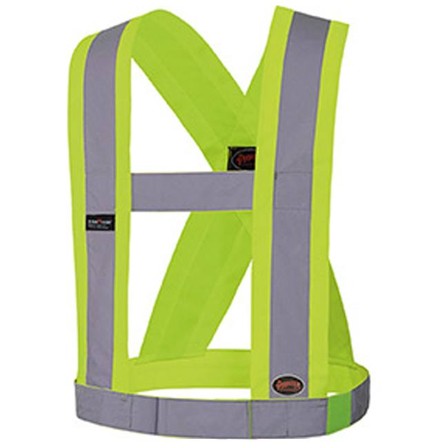 "Pioneer V1040360 Hi-Viz CSA 4"" Wide Adjustable Safety Sash"