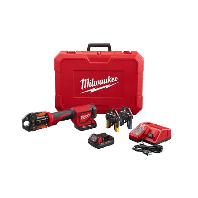 Milwaukeee 2674-22P M18 Short Throw Press Tool Kit with Viega PureFlow Jaws