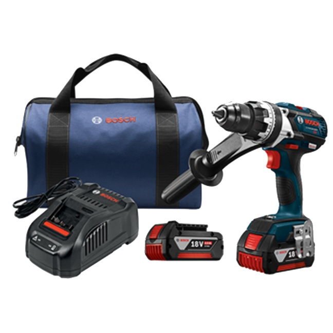 "Bosch DDH183-01 18V EC Brushless Brute Tough 1/2"" Drill Driver Kit"