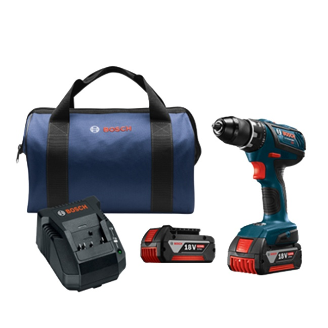 "Bosch DDS181A-01 18V Compact Tough 1/2"" Drill Driver Kit"