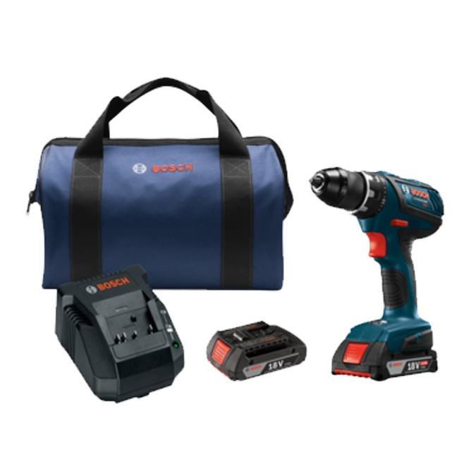 "Bosch DDS181A-02 18V Compact Tough 1/2"" Drill Driver Kit"
