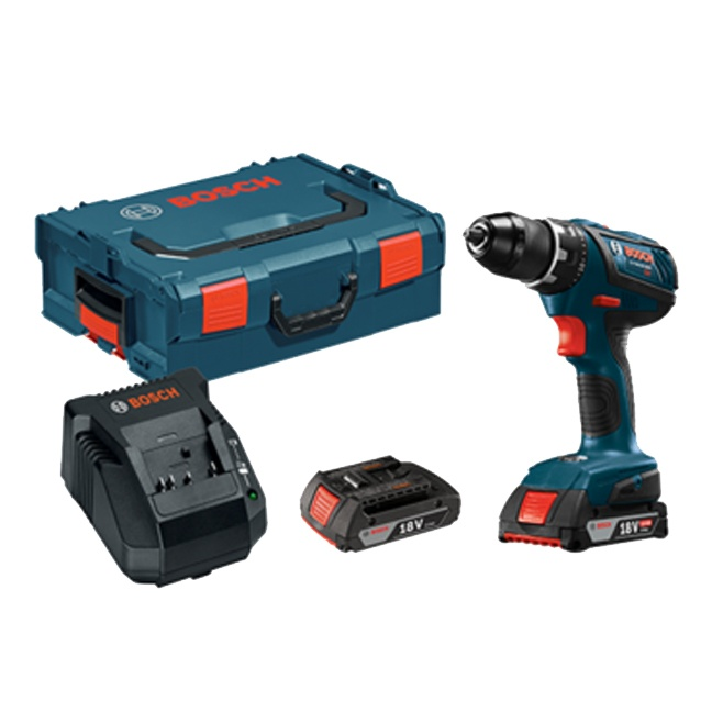 "Bosch DDS181A-02L 18V Compact Tough 1/2"" Drill Driver Kit with L-Boxx"