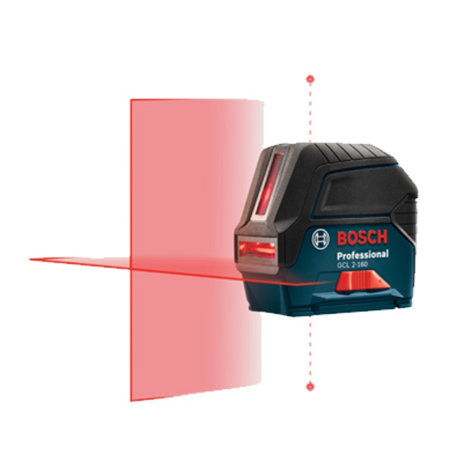 Bosch GCL 2-160 S Self-Leveling Cross-Line Laser with Plumb Points