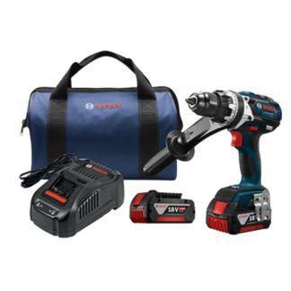 """Bosch HDH183-01 18V EC Brushless Brute Tough 1/2"""" Hammer Drill Driver Kit"""